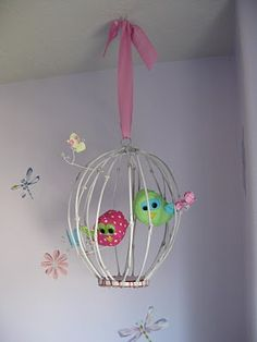 Birdcage Tutorial by Running with scissors. This is a cute idea for a baby girl nursery.