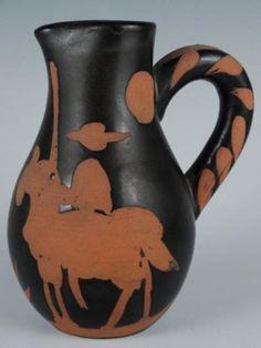 Rare-Edition-Madoura-Pablo-Picasso-Picador-Ceramic-Pitcher-Jug