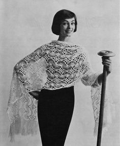 Hairpin Lace Stole  Vintage Crochet Pattern  by nostalgiarules, $4.99