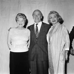 Marlene Dietrich with Matt Busby and Violet Carson Photographic Print