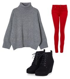 """""""Untitled #43"""" by sherrysands ❤ liked on Polyvore featuring Paige Denim, women's clothing, women's fashion, women, female, woman, misses and juniors"""