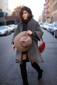 High boots + dress combo