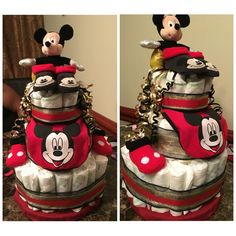 3-Tier Mickey Mouse Diaper Cake