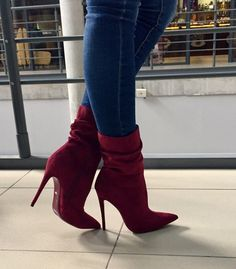 40 Stiletto Boots Trending This Winter - Shoes Market Experts - Stylish shoes Stiletto Boots, High Heel Boots, Bootie Boots, Boot Heels, Shoes High Heels, Knee Boots, Red Heels, Stilettos, Pumps