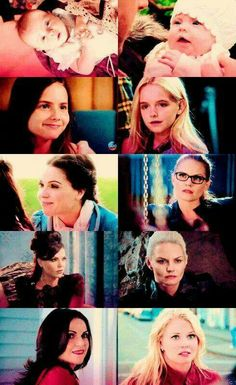 Regina & Emma through the years Once Upon A Time Funny, Once Up A Time, Sacrifice Love, Ouat Characters, Regina And Emma, Ouat Cast, Swan Queen, Outlaw Queen, Tv Show Quotes