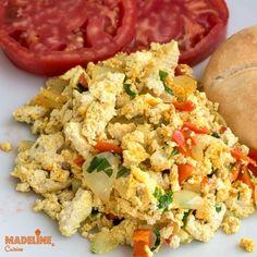 Omleta din tofu / Tofu scrambled eggs