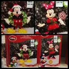 30 lighted minnie mouse disney tinsel christmas outdoor decoration - Outdoor Lighted Tinsel Christmas Decorations