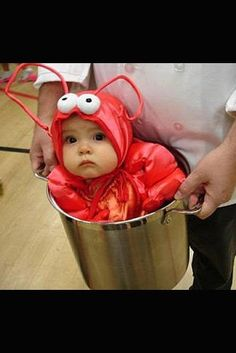 Always a classic: the 'lobster in a pot' baby .... - great album of some wrong Halloween costumes for babies