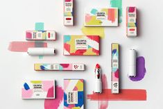 Etude House 2018 Colorful Drawing on Packaging of the World - Creative Package Design Gallery Etude House, Cosmetic Design, Memphis Design, Bottle Packaging, Product Packaging, Packaging Ideas, Beauty Packaging, Colorful Drawings, Packaging Design Inspiration