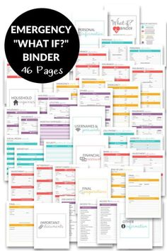 This guide to how to create an Emergency Binder includes a documents checklist, a list of things to include in an Emergency Binder, and why you need to make one now. Emergency Preparedness Binder, Family Emergency Binder, Emergency Preparation, Emergency Kits, Household Binder, Household Notebook, Wedding Planner Binder, Life Binder, Funeral Planning