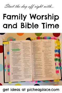 Family Worship and Bible Time | ideas for getting into the Bible together as a family on a regular basis
