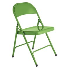 MACADAM Green metal folding chair | Buy now at Habitat UK. I think the green colour would look good with the teak wood and white floor tiles, but other colours are available