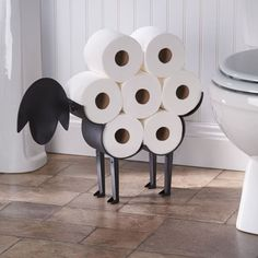 "Every time you use the TP, it'll be like you're shaving the sheep, lol.Promising review: ""This my second purchase of this product. It is so cute and sturdy that I am putting one in each bathroom! I was even able to put it together myself. Hangs on wall or stands alone. You will love it. A bit pricey for a toilet paper holder, but well worth the investment."" —ranford2Price: $44.99"
