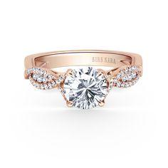 cca958865b472 K199RR - Pirouetta - Kirk Kara Aneis, Anéis De Noivado Split Shank,  Acoplamento Diamante