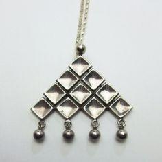 sold-DAVID ANDERSEN(デビッド・アンデルセン)ノルウェイ シルバートライアングル ネックレス : decoupage jewelry online shop