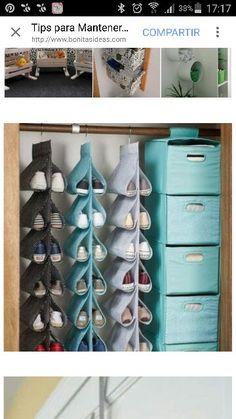 Over The Door Shoe Rack Hanging Closet Shoe Storage, Mini Dot - Aufbewahrung Dorm Storage, Closet Shoe Storage, Under Bed Storage, Bedroom Storage, Storage Cart, Storage Ideas, Hanging Closet, Wall Organization, Closet Bedroom