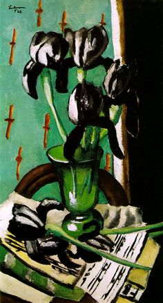 Max Beckmann: Black Irises (1928) Art Experience NYC www.artexperiencenyc.com/social_login/?utm_source=pinterest_medium=pins_content=pinterest_pins_campaign=pinterest_initial