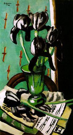 Max Beckmann: Black Irises (1928) Art Experience NYC www.artexperiencenyc.com/social_login/?utm_source=pinterest_medium=pins_content=pinterest_pins_campaign=pinterest_initial