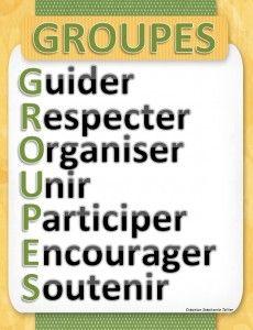 French Classroom Management - use the acronym GROUPES - gestion de classe en français
