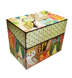 Retro owl recipe box!