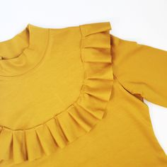 Tilly and the Buttons Yellow Ruffle Freya Dress