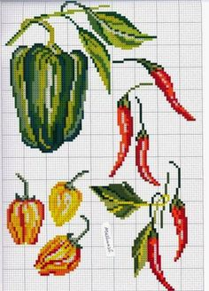 "Lovely heart things: Cross Stitch: ""A little pepper"" (selection circuits)"