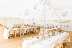 Traditional Pole Marquee in pastel paper lanterns