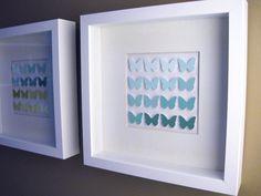 Ombre Paint Chip Butterflies