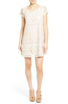 Socialite Cap Sleeve Lace Shift Dress
