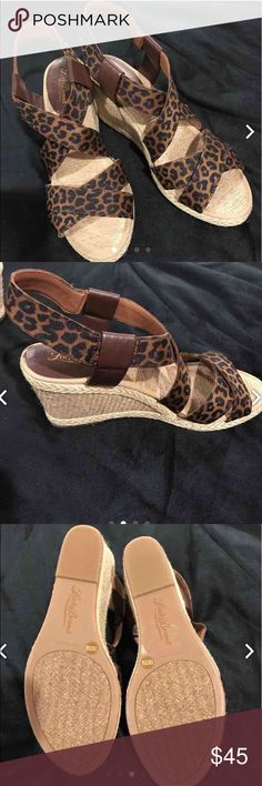 "Lucky Brand  ""Keane"" Animal Print Wedges Animal Print design. Wedge heel 3"" high. Brand new; never worn. No box Lucky Brand Shoes Wedges"