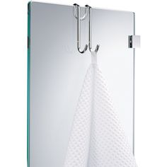 DWBA Small Hanging Hook for Bathroom Shower Glass Doors, Polished Chrome