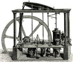 Máquina industrial de doble efecto de Watt - Portal Fuenterrebollo