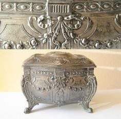 vintage french jewelry boxcasket by thehopetree on Etsy, $55.00
