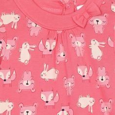 bluezoo Babies pink woodland printed dress- at Debenhams.com
