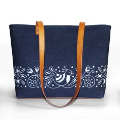 Veľká Kráska - rifľovo kožená kabelka - Vtáčik Louis Vuitton Monogram, Pattern, Bags, Fashion, Handbags, Moda, Fashion Styles, Patterns, Model