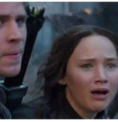 No. This is not Prim as some have said it to be. Its Katniss's reaction to The Capitol bombing the hospital full of the wounded in District 8. Prim happens in Part 2.