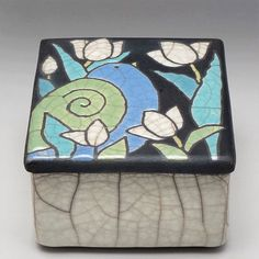 Pottery Box Bird Ceramic boxhandmade raku fired by DavisVachon, $69.00