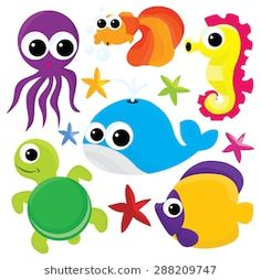 The post Multicolor cute cartoon sealife vector illustration. appeared first on Xup Social.