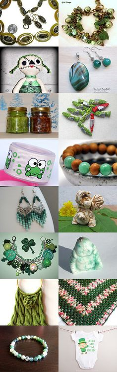 Green With Envy BIO Team Treasury by Liz Middleton on Etsy--Pinned with TreasuryPin.com