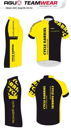 DESIGN YOUR OWN cycling jersey by AGU // Customized Cycling Apparel, designed for Cycle Gabriel (Belgium). Interested -> teamwear@agu.nl