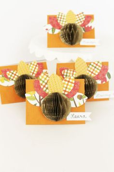 Turkey Place Cards by Laura Silva for We R Memory Keepers Hosting Thanksgiving, Thanksgiving Table, Balloons And More, Mom And Grandma, We R Memory Keepers, Happy Fall, Diy Party, Place Cards, Turkey