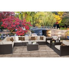 TK Classics Belle 11 Piece Seating Group with Cushion & Reviews | Wayfair