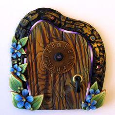 Fairy Time Polymer Clay Fairy Door. $20.00, via Etsy.