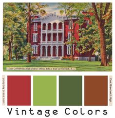 Septembery Vintage Color Palette, Eat Greenwich High School, hex color codes on the blog.