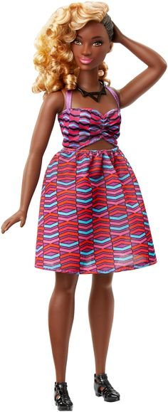 57 Barbie® Fashionistas Doll (Tribal Print Dress) CURVY