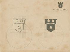 Geometric Castle Logo Template