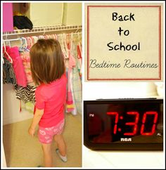 Establishing a Bedtime Routine for Back to School - Get Ready For K Through Play from Mess for Less