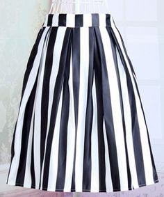 striped midi skirt| $10.96  nu goth pastel goth goth punk hipster vintage fachin midi skirt skirt bottoms striped under20 under30 sammydress