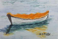 Waiting by Sharon Allen Watercolor ~ 4 x 6