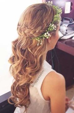 Half Up Flower Girls Hair